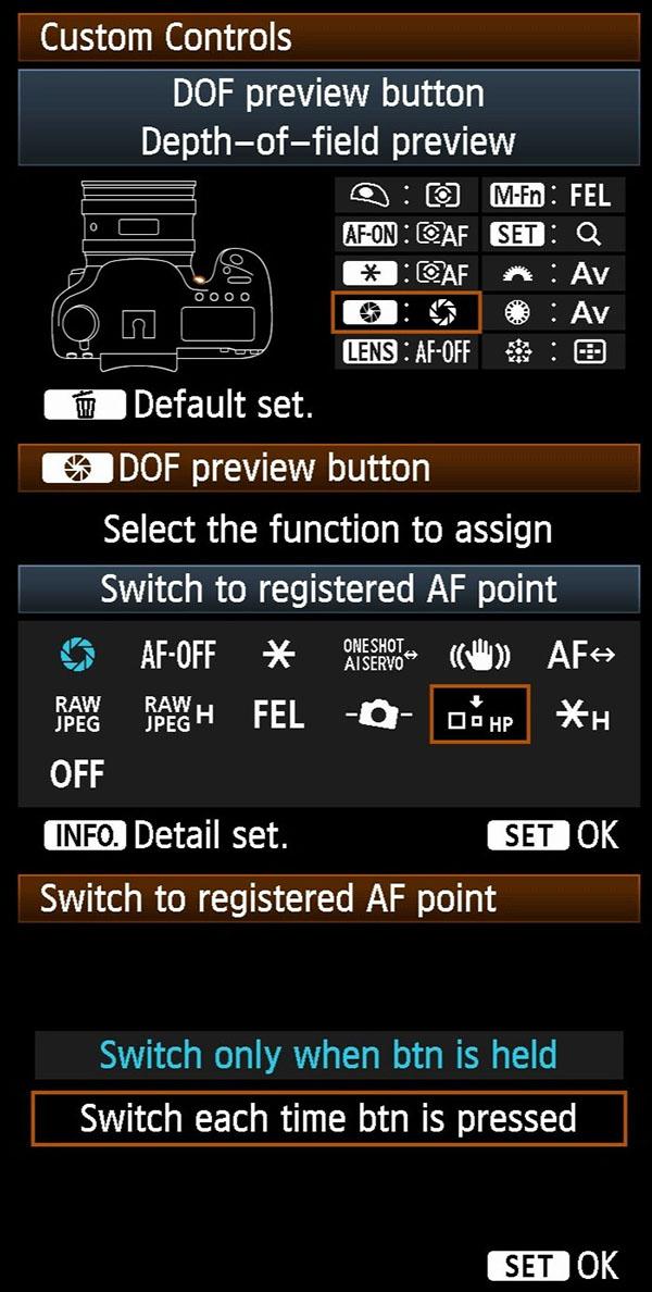 Registered AF - 5D3
