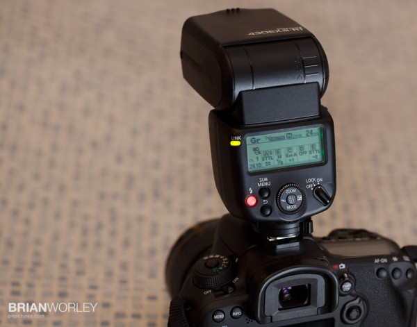 Speedlite 430EX III-RT controls up to five groups of slave flashes using radio wireless control
