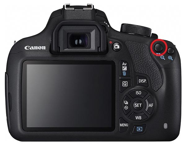 EOS 1200D back button focus highlighted