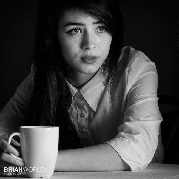 Model Amber Joy photographed at my Speedlite flash workshop