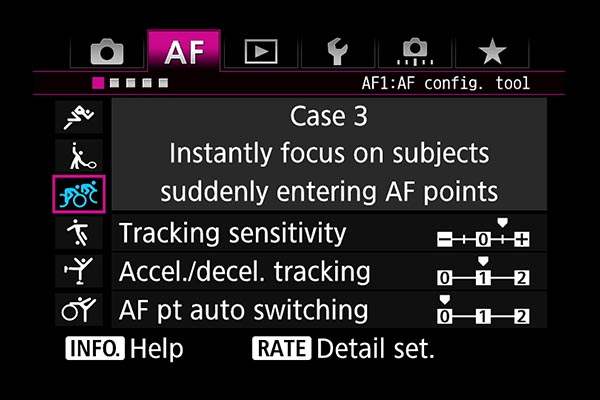 AF settings EOS 7D Mark II Case 3