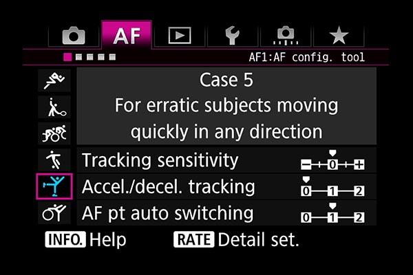 AF settings EOS 7D Mark II Case 5
