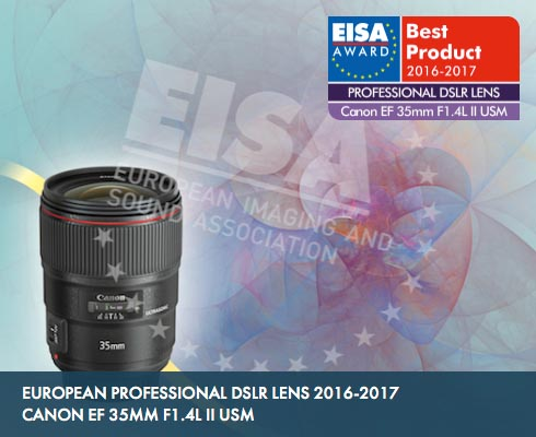 EISA awards EF 35mm f/1.4L II USM