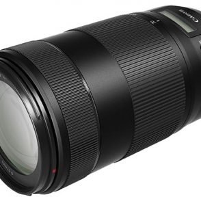 Canon EF 70-300mm F/4-5.6 IS II USM lens for wildlife and sports with digital display