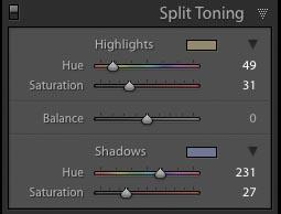 lightroom split tone