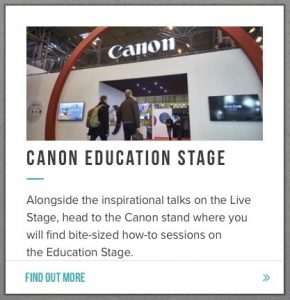 Photography Show - Canon Education Stage