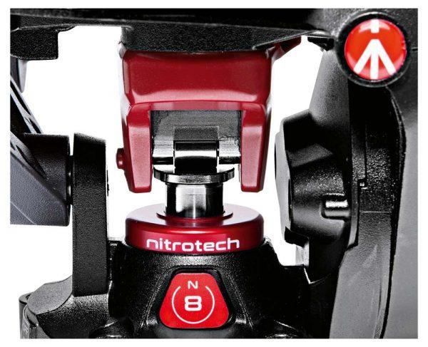Nitrogen piston in the Nitrotech N8 fluid video head