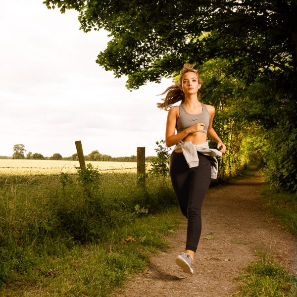 location fitness shoot with Emma