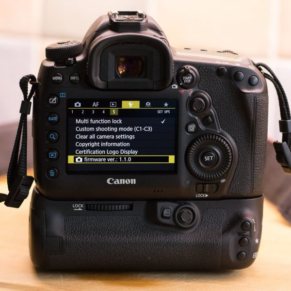 EOS 5D Mark IV with firmware update v1.1.0