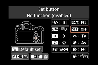 EOS 5D Mk4 manual with exposure compensation