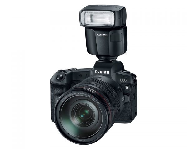 Canon EOS R with RF 24-105mm and Speedlite EL-100