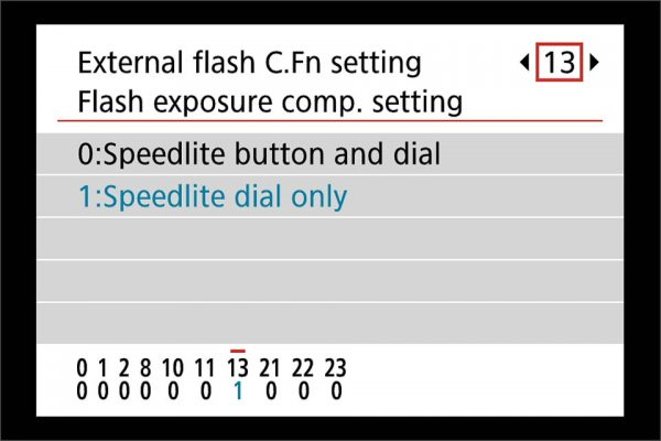 flash exposure compensation - quick access