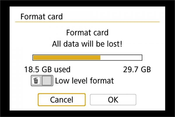 format SD cards faster