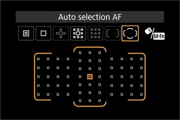 61pt AF with AI servo