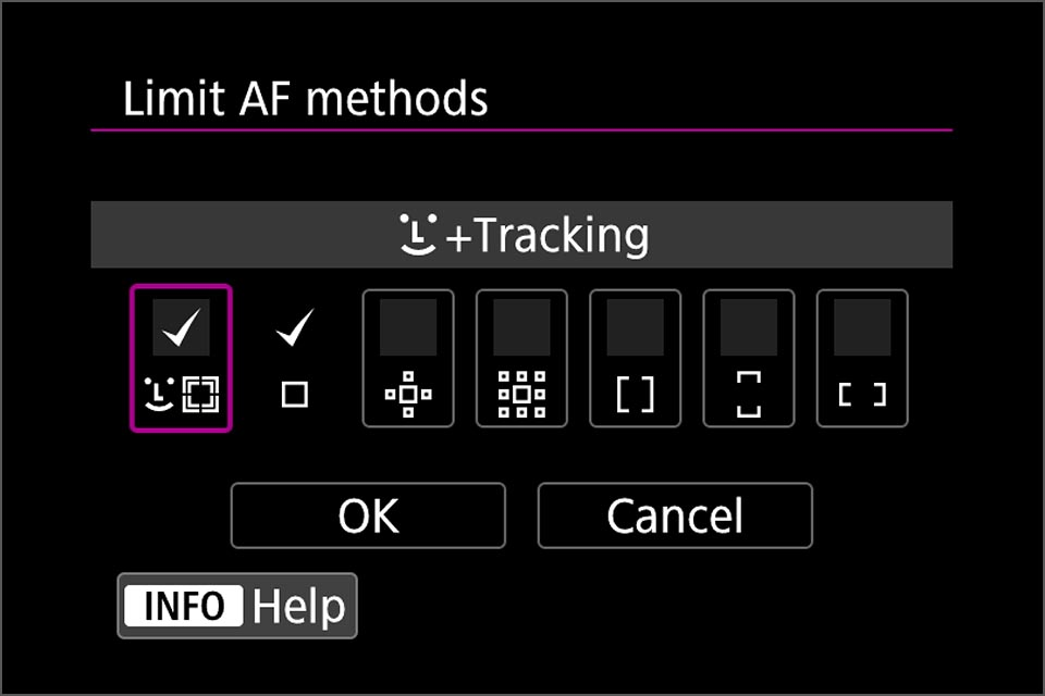 Direct AF selection limit AF methods