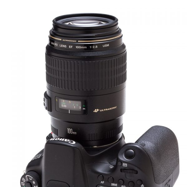 USM lens with full-time manual focus