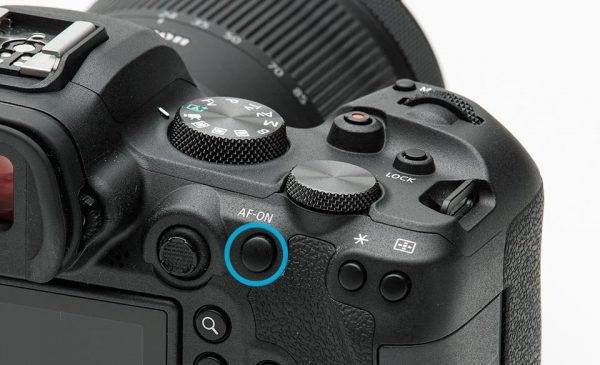 EOS R6 AF-ON button
