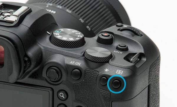 EOS R6 autofocus point button