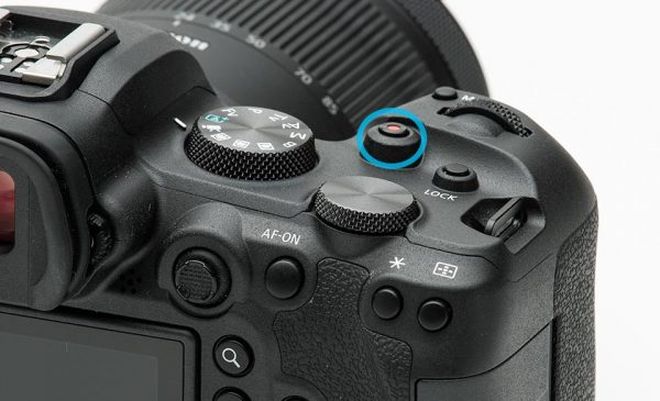 EOS R6 movie button