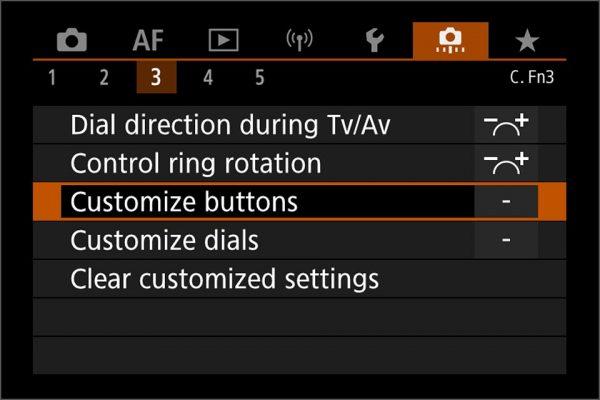 EOS R5 / EOS R6 autofocus controls