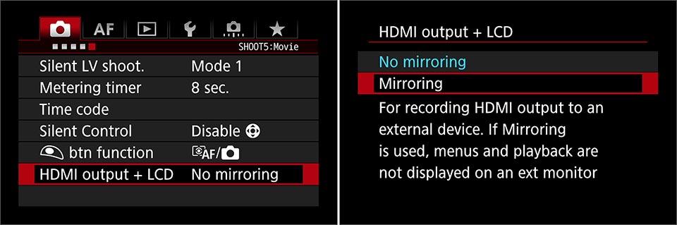 EOS 7D Mk II clean hdmi