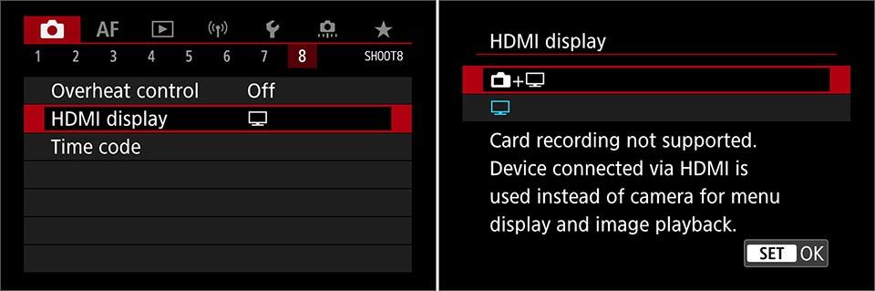 EOS R6 clean HDMI