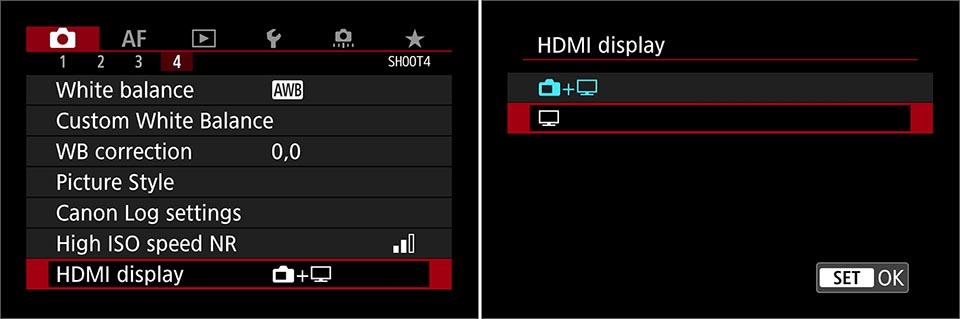 EOS R clean HDMI