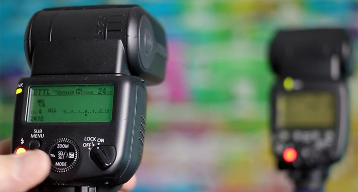 Configure your Speedlite for off-camera flash photography