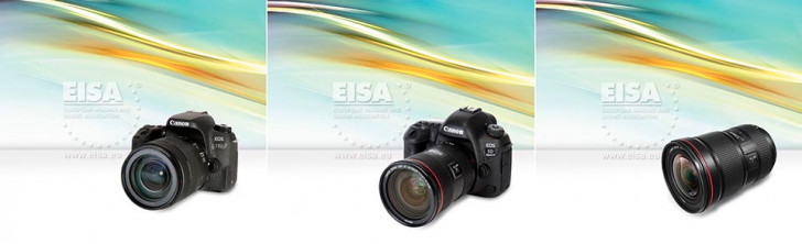 Canon picks up three EISA awards