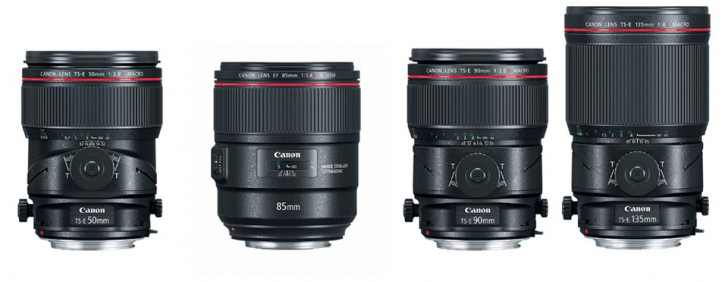 Four new L-series lenses: 85mm f/1.4L IS USM & tilt-shift macro lenses