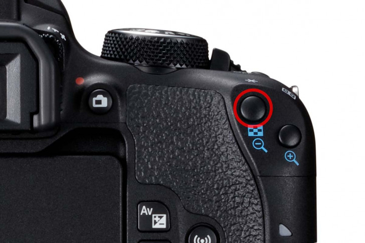 Setting EOS 800D for back button focus