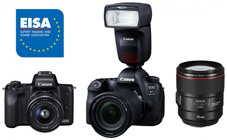 Canon products pick up Four EISA awards