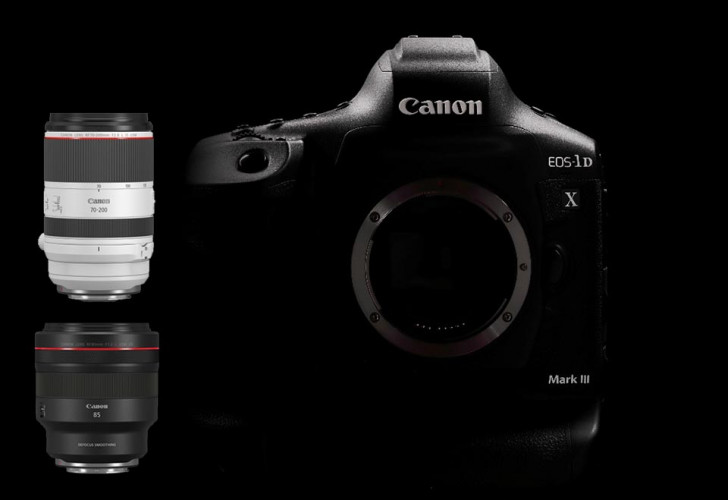 Two more RF lenses, EOS-1D X Mark III & video accessories