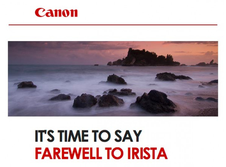 Canon shuts down IRISTA photo sharing service