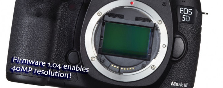 EOS 5D Mark III firmware v1.04 enables 40MP resolution
