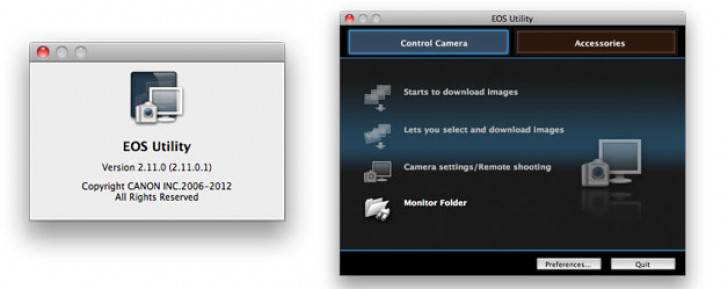 EOS Utility updates for EOS 5D Mark III