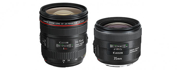 Canon EF 24-70mm f/4L IS USM and EF 35mm f/2 IS USM