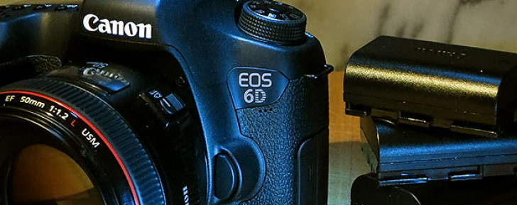 EOS 6D extraordinary battery life with WiFi and GPS