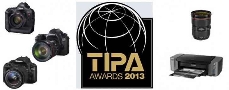 Canon wins five TIPA 2013 awards
