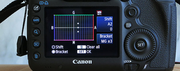 White balance shift and bracketing
