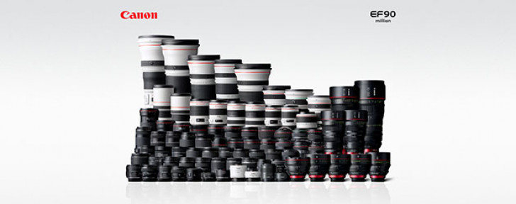 Canon reaches 90 million EF lenses production milestone