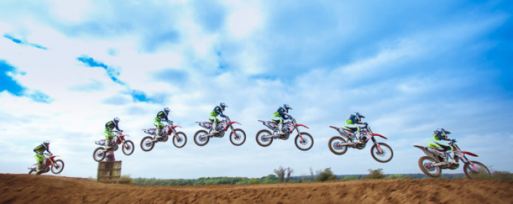 multiple exposure motocross