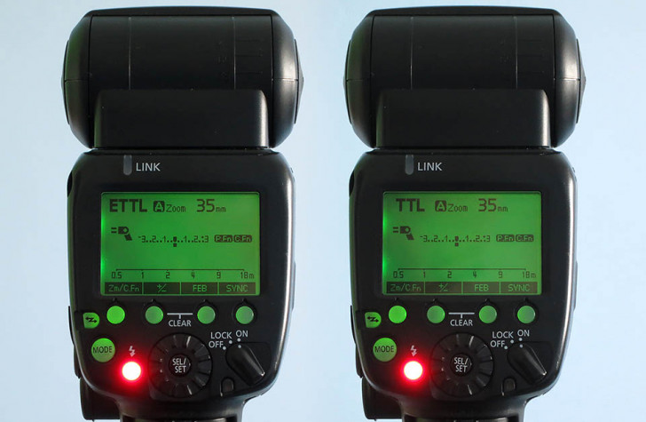 The difference between E-TTL & TTL for Canon flash