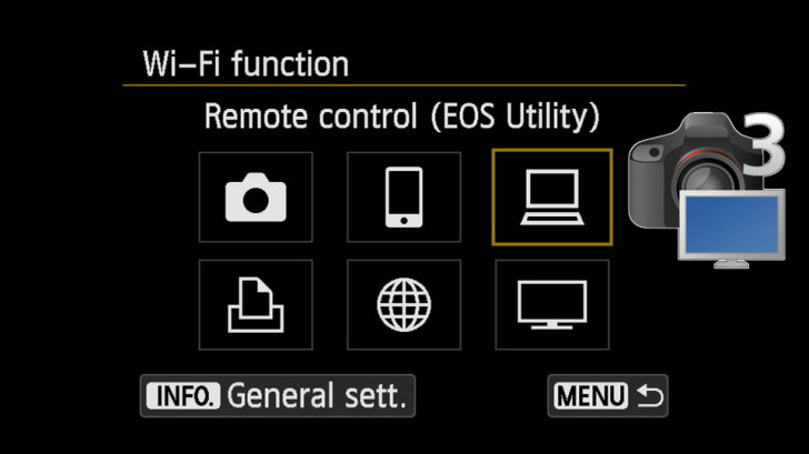 WiFi pairing your WiFi EOS camera with EOS Utility 3.0