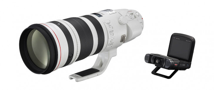 Canon EF200-400mm f/4L IS USM Extender 1.4x lens, LEGRIA mini X camcorder win Design for Asia Bronze Awards