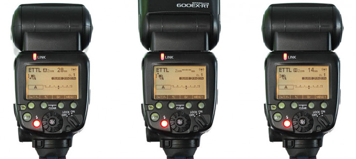 What are those odd icons on the Speedlite 600EX-RT?