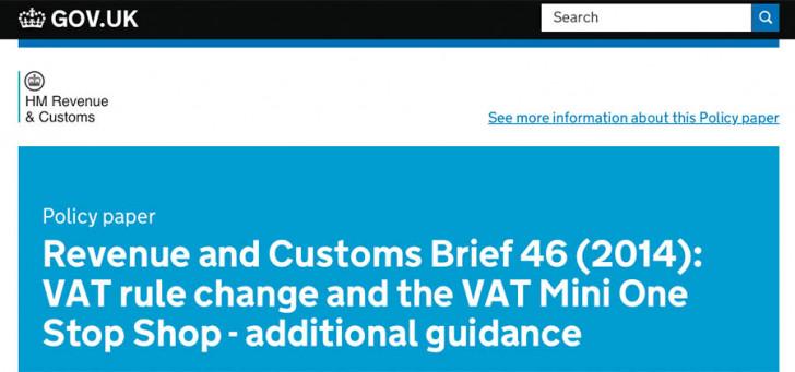 VAT rule change & VAT MOSS – additional guidance