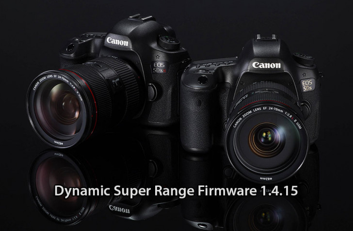 Dynamic super range firmware 1.4.15 for EOS 5DS and EOS 5DSR