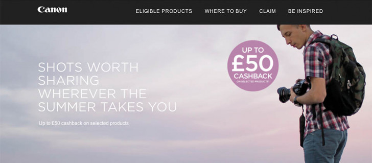 Canon Summer Cashback 2015