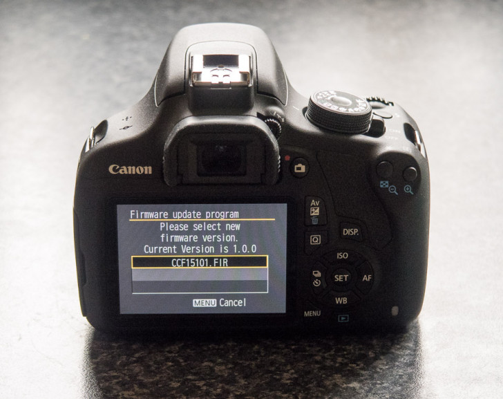 EOS 1200D firmware update 1.0.1